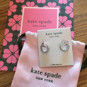 Kate Spade cubic zirconia small hoop earrings